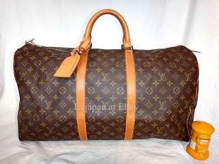 AUTH LOUIS VUITTON MONOGRAM KEEPALL 55 LUGGAGE TRAVEL BAG