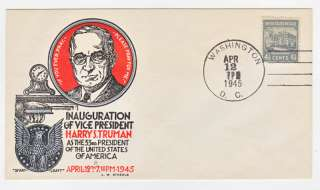 RARE Staehle Smartcraft HARRY TRUMAN Inauguration Cover
