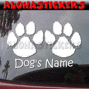 CUSTOM DOG PAWS PAW Vinyl Decal Car Truck RV Sticker M2