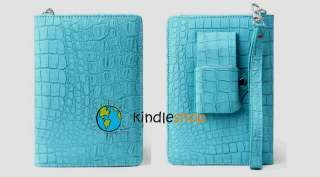 NEW Turquoise Blue  Kindle Keyboard 3 WiFi Light Case Lighted