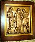 French Neoclassic Bronze Bas Relief Plaque Trojan War / F.Barbedienne