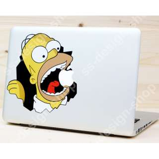 Homer The Simpsons Sticker Vinyl Decal Skin for Apple Macbook Air Pro