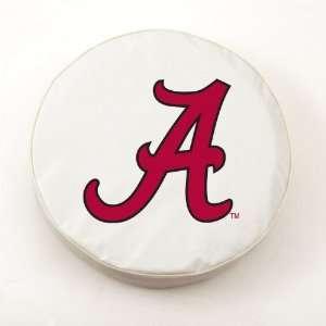 Alabama Crimson Tide College Tire Covers Script A White