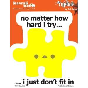 Kawaii Not   Dont Fit Puzzle Piece   Sticker / Decal