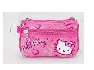 NEW SANRIO HELLO KITTY CHANGE COIN BAG PURSE LEOPARD