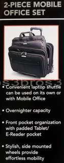 New Samsonite 17 Rolling Business Laptop Case Mobile Padded Tablet