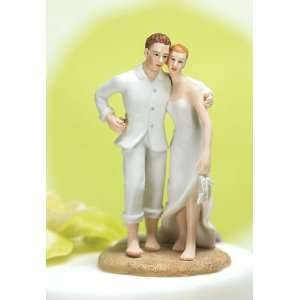 Wedding Cake Topper   Beach Bride Groom (1 Topper) Arts