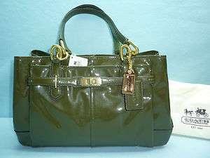 NWT COACH CHELSEA PATENT LEATHER JAYDEN EAST WEST CARRYALL SATCHEL
