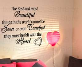 Vinyl Wall Sticker Decal Art Decor Quote Inspirational Lettering Feel