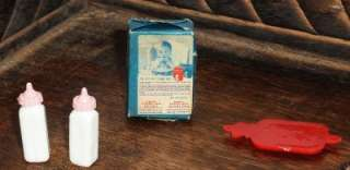 Vintage Dollhouse Baby Gerber Food Box Baby Bottles Water Bottle