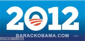 Barack Obama For President New 2012 Bumper Sticker
