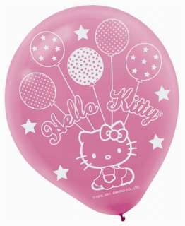 Hello Kitty Party Supplies Ballon Dreams Latex Balloons   6 Each