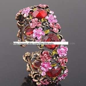Victorian Style Crystal Rhinestone Bangle Bracelet