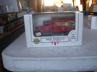 Busch Inc. 1931 Hawkeye Delivery Truck Bank Red & Black by Ertl