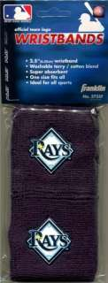 Tampa Bay Rays Team Logo Wristbands Sweatbands