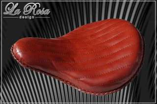 Harley Chopper Bobber LaRosa Solo Leather Seat, Shedron