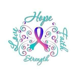 Faith Love Strength Thyroid Cancer Postage Stamps