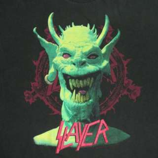 VTG SLAYER 1990 T SHIRT TOUR CONCERT THRASH METALLICA L