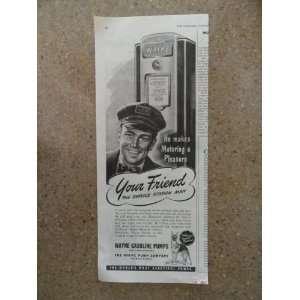 pump)Original vintage 1946 The Saturday Evening Post Magazine Print