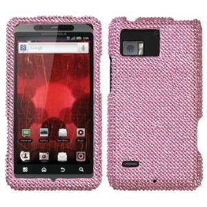 Pink Crystal Diamond BLING Hard Case Phone Cover for Verizon Motorola