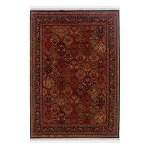 Panel Kerman Rose Scarlet Rug, 66 Round Home & Kitchen