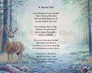 Personalized Stepfather Poem Second Dad Christmas Gift