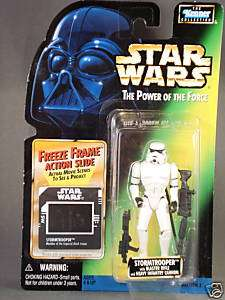1997 Kenner Star Wars POTF Stormtrooper freeze frame