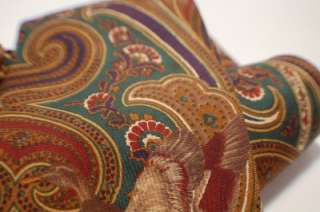 BILL BLASS TIE   beautiful brown paisley w/ birds