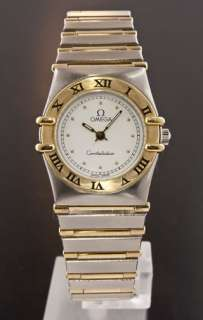 Omega Constellation Two Tone Full Bar Ladies Watch