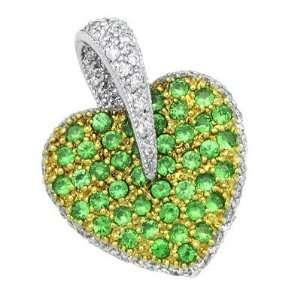 Garnet Diamond Gemstone Pendant in White Gold Avianne & Co Jewelry