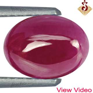Top Blood Red Ruby Oval Cab Mogok Best Rare Color Investment $