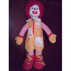 Ronald McDonald 12 Soft Doll
