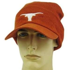 NCAA TEXAS LONGHORNS ORANGE BILL BEANIE KNIT HAT TOQUE