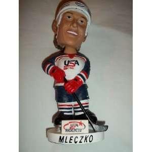 USA Hockey Mleczko Hand Painted Bobble Head Doll