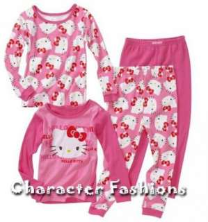 Kitty Pajamas pjs Size 2T 3T 4T Shirt Pants PINK   2 Piece