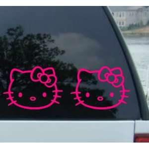 (2) 5 HELLO KITTY   HOT PINK   Cat Feline   Car, Truck