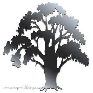 Oak Tree 13.75 x 13 Plexi Mirrored Adhesive Wall Art