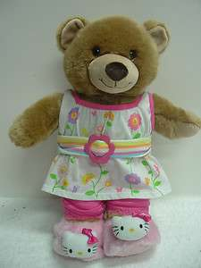 Build A Bear Summer dress HELLO Kitty booties Capri Pants Very good