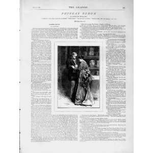 1873 Illustration Story Phineas Redux Man Woman Romance
