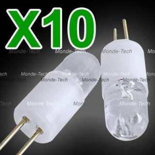 10 X G4 Warm White 1 LED Light Lamp Bulb 12V 0.3W 3000K