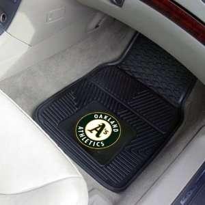 MLB Oakland Athletics Black 2 Piece Vinyl Car Mat Set