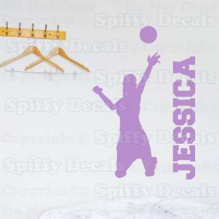 PERSONALIZED VOLLEYBALL PLAYER CUSTOM NAME GIRL Quote Vinyl Wall Decal