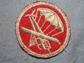 PATCH WW2 US ARMY AIRBORNE PARAGLIDDER ARTILLERY TWILL CAP SIZE