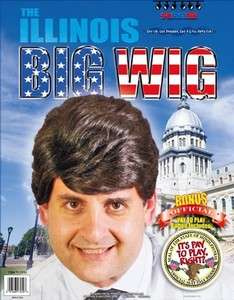 Illinois Rod Blagojevich Big Wig Costume Accessory *New