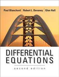 Differential Equations by Paul Blanchard, Robert L. Devaney and Glen R