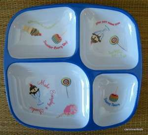 Target Home Melamine Happy Summer Sundae Sweets Plate Plastic Divided
