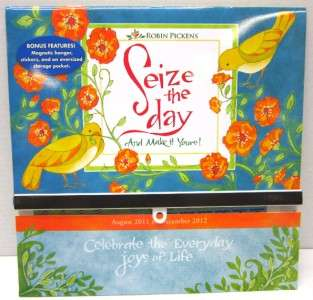 NEW ROBIN PICKENS SEIZE THE DAY 2012 WALL CALENDAR BY 9781416287520