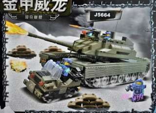 Army Battle Tank Truck Military Building Blocks Bricks Nonlego 581