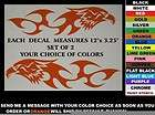 GAS TANK DECAL SET, TRIBAL EAGLE W/ FLAMES   ANY COLOR   fits harley,