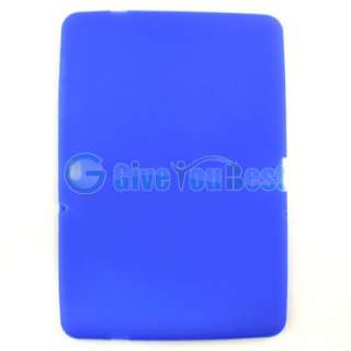 Blue Soft Silicone Case Cover Protector For Samsung Galaxy Tab 10.1 GT